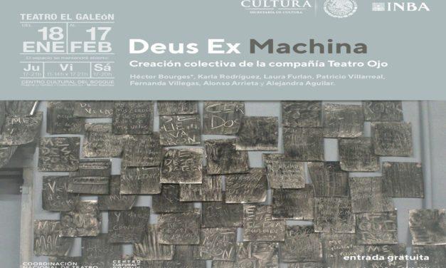 """""""Deus ex machina"""", pieza escénica de Teatro Ojo, en El Galeón"""
