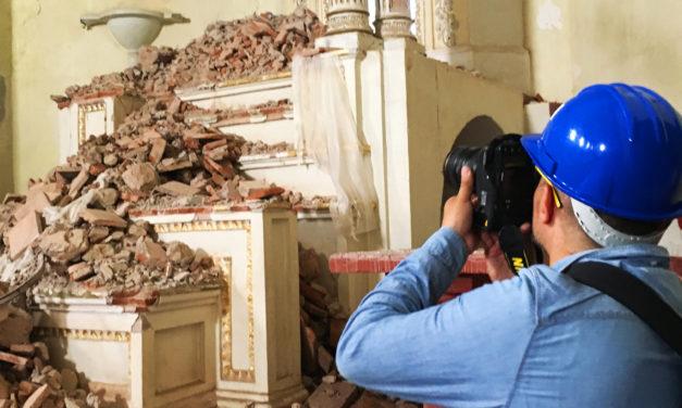 Trabajos de rescate en murales de monasterios de Morelos tras los sismos de septiembre