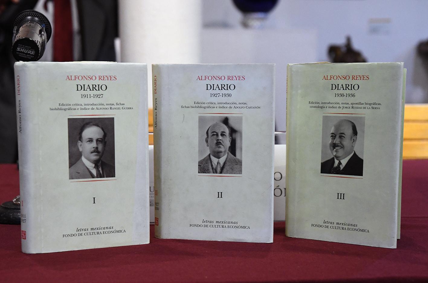 El FCE edita los primeros tomos de los diarios de Alfonso Reyes