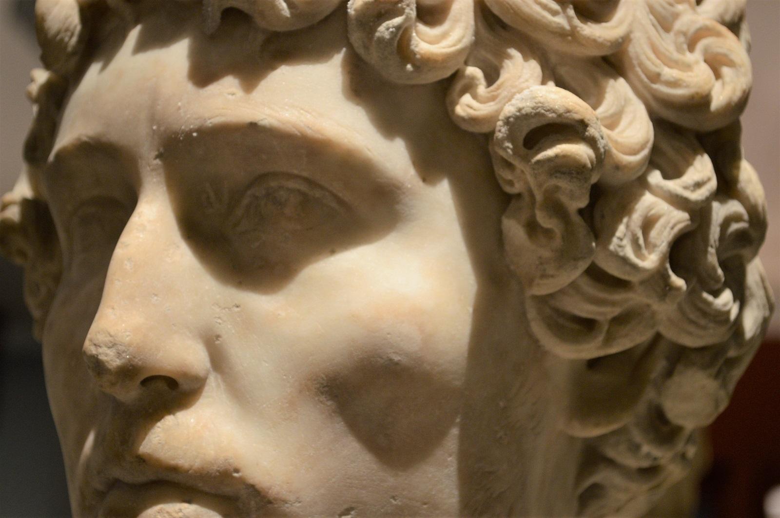 Busto de un jovén romano Foto Ireli Vázquez