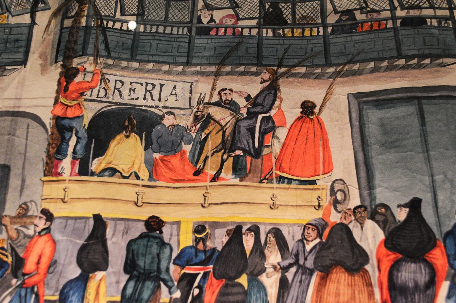 Procesión de Semana Santa en la Calle de San Agustín de Lima Foto Ireli Vázquez